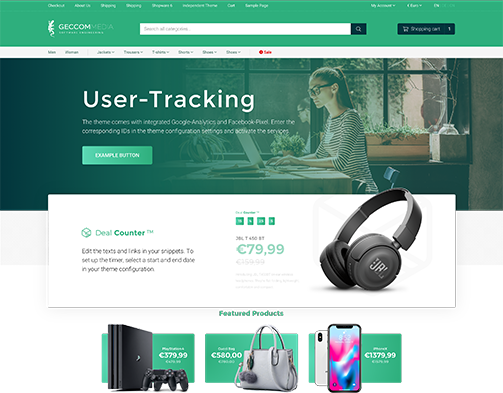geccom media Shopware 6 Premium Theme